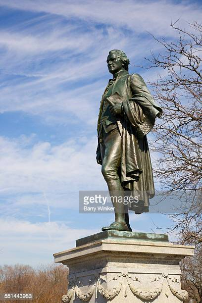 alexander hamilton statue - alexander hamilton stock photos and pictures