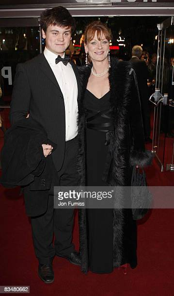Alexander Hanson and Samantha Bond attend the world premiere of 'Quantum of Solace' at Odeon Leicester Square on October 29, 2008 in London, England.