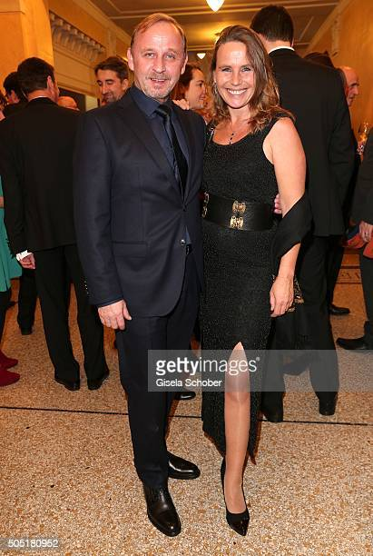 Alexander Held and Marie Theres KroetzRelin during the Bavarian Film Award 2016 at Prinzregententheater on January 15 2016 in Munich Germany