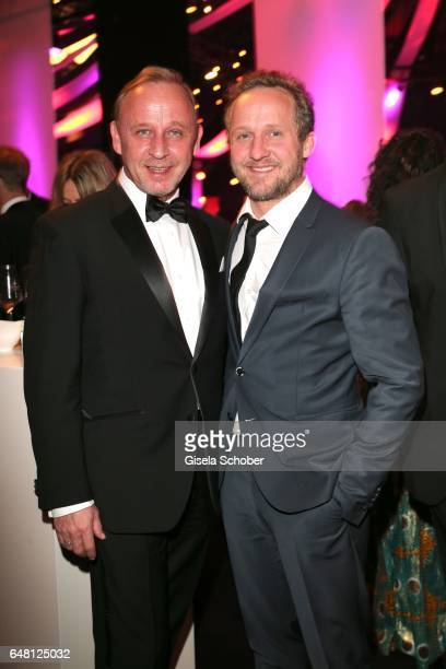 Alexander Held and Maximilian Brueckner during the Goldene Kamera after show party at Messe Hamburg on March 4 2017 in Hamburg Germany