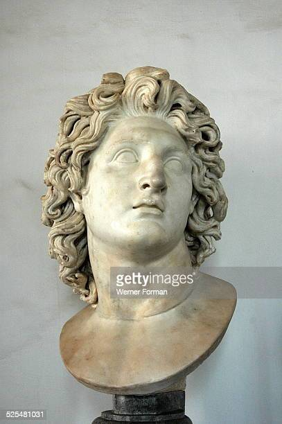 Alexander Helios' Roman bust of Alexander the Great as the Sun God Roman copy of a Hellenistic original