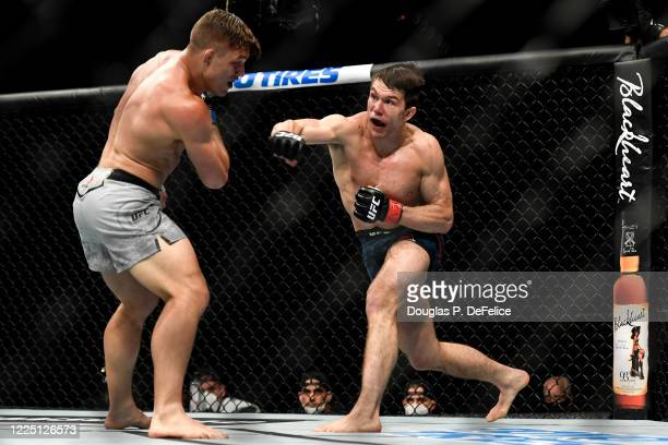 Alexander Hernandez of the United States fights Drew Dober of the United States in their Lightweight bout during UFC Fight Night at VyStar Veterans...