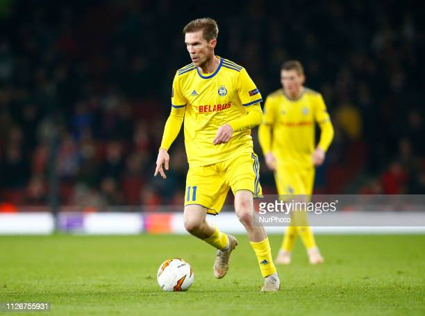 Alexander Hleb of FC Bate Borisow during UEFA Europa League Round of 32 2nd Leg between Arsenal and of Bate Borisov at Emirates stadium London...