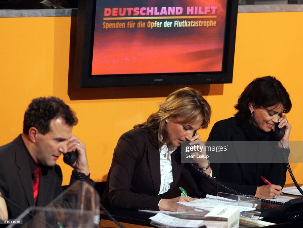 Charity Benefit Telethon in SAT 1 Studios : News Photo