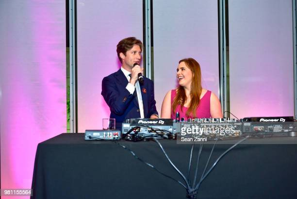 Alexander Hurst and Hillary Mazanec speak during Mr Morgan's Summer Soiree at The Morgan Library Museum on June 21 2018 in New York City