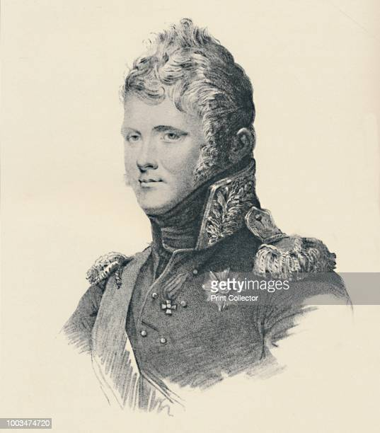 Alexander I Emperor of Russia' circa 1800 Alexander I reigned as Emperor of Russia between 1801 and 1825 Engraving after the drawing by L De St Aubin...