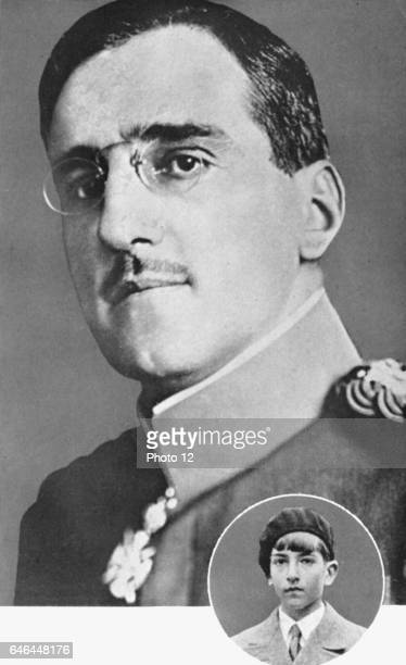 Alexander I King of Serbs Croats and Slovenes King of Yugoslavia Assassinated at Marseilles on state visit to France 9 October 1934 Inset is Peter II...
