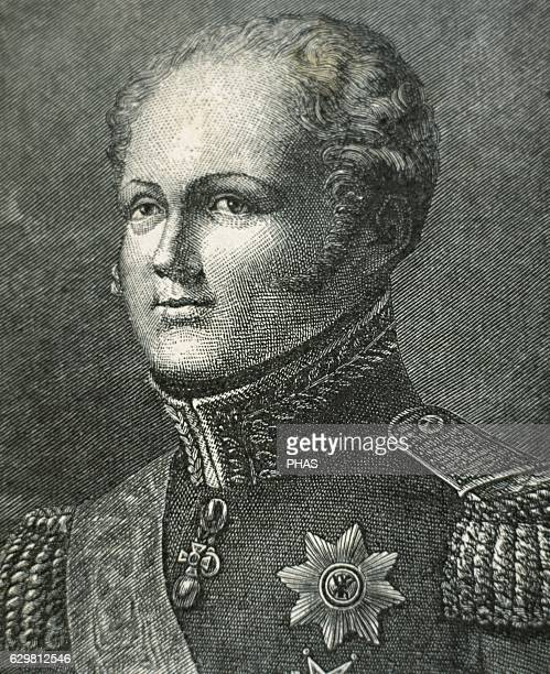 Alexander I of Rusia Emperor of Russia the first King of Poland and the first Russian Grand Duke of Finland Portrait engraving 19th century