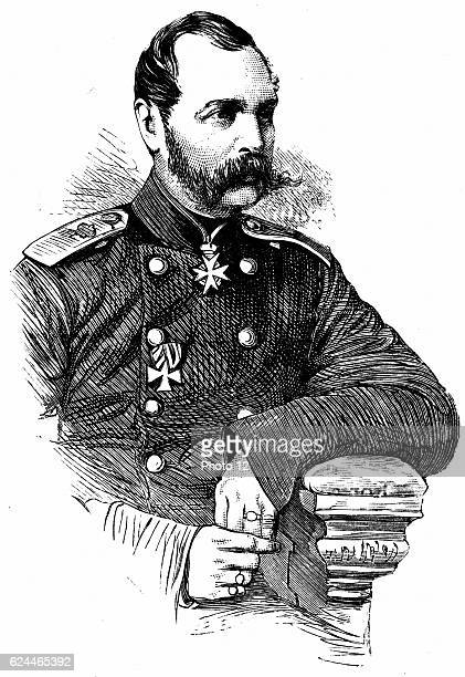 Alexander II Tsar of Russia from 1855 Known as 'The Liberator' Emancipated the serfs in 1861 Engraving