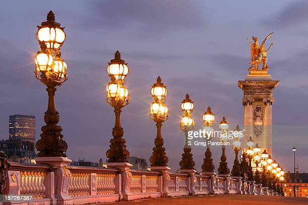 pont alexandre iii - monument stock pictures, royalty-free photos & images