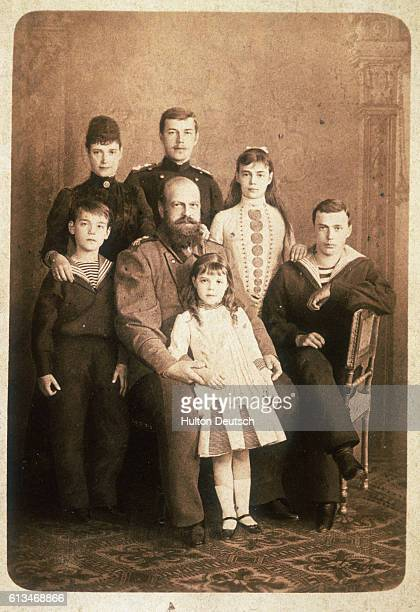Alexander III the Czar of Russia from 1881 his wife nee Princess Marie Dagmar and the royal Tsarist family