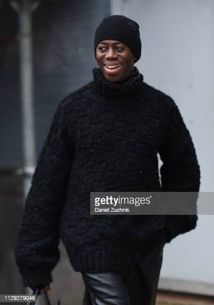 J Alexander is seen outside the Christian Cowan show during New York Fashion Week Fall/Winter 2019 on February 12 2019 in New York City