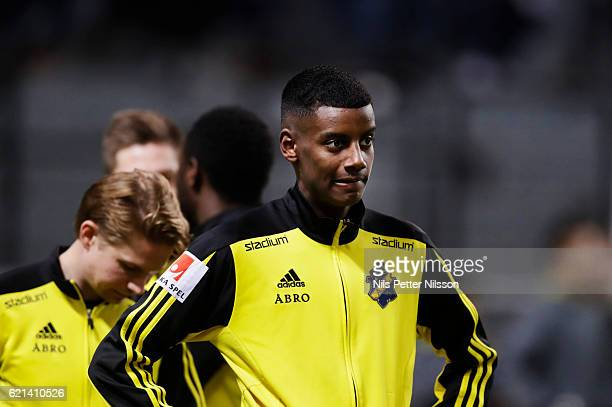 Alexander Isak of AIK ahead of the Allsvenskan match between AIK and Kalmar FF at Friends arena on November 6 2016 in Solna Sweden