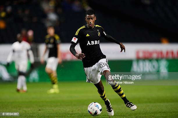 Alexander Isak of AIK during the Allsvenskan match between AIK and BK Hacken at Friends arena on October 27 2016 in Solna Sweden