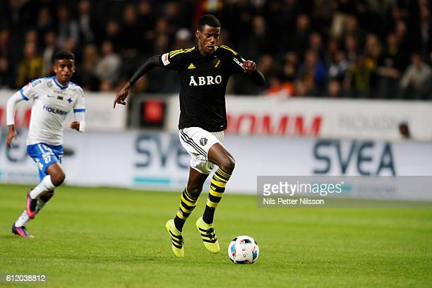 Alexander Isak of AIK during the Allsvenskan match between AIK and IFK Norrkoping at Friends arena on October 2 2016 in Solna Sweden
