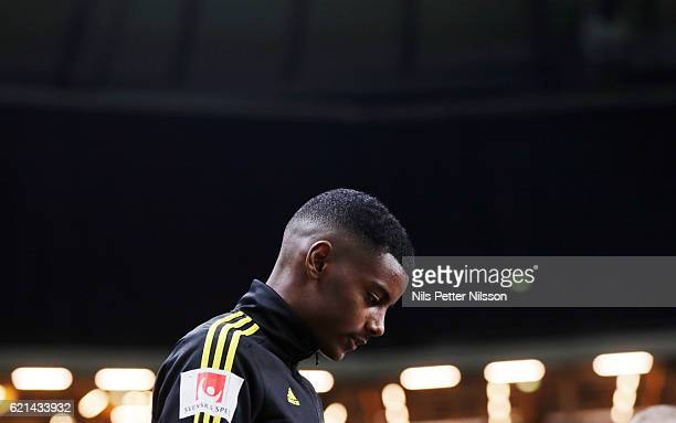 Alexander Isak of AIK during the Allsvenskan match between AIK and Kalmar FF at Friends arena on November 6 2016 in Solna Sweden