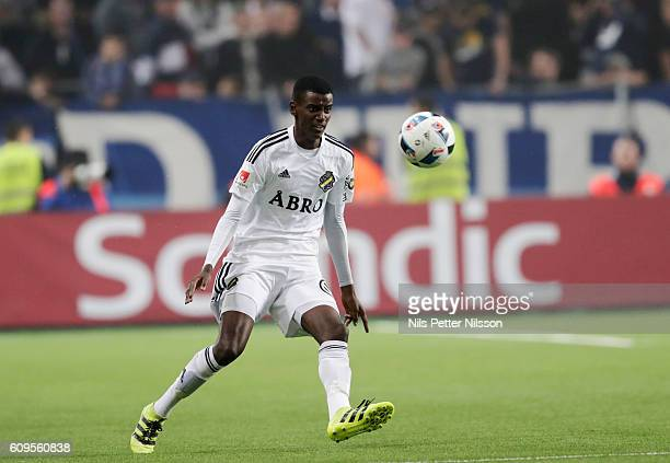 Alexander Isak of AIK during the Allsvenskan match between Djurgardens IF and AIK at Tele2 Arena on September 21 2016 in Stockholm Sweden