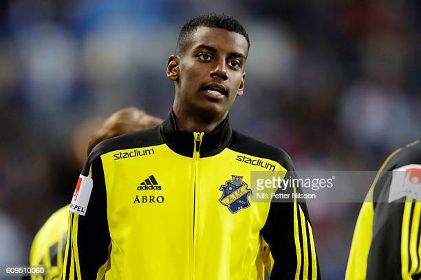 Alexander Isak of AIK during warmup prior the Allsvenskan match between Djurgardens IF and AIK at Tele2 Arena on September 21 2016 in Stockholm Sweden