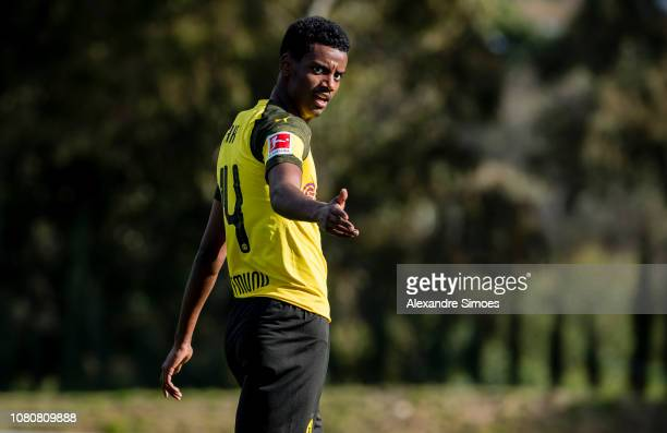 Alexander Isak of Borussia Dortmund during a friendly match against Willem II Tilburg as part of the training camp on January 11 2019 in Marbella...