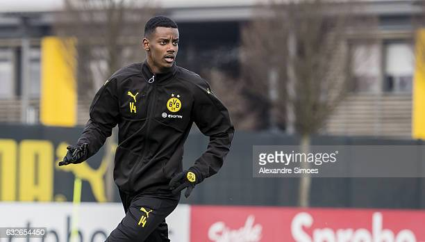 Alexander Isak of Borussia Dortmund during a training session on January 25 2017 in Dortmund Germany