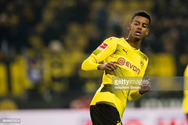 Alexander Isak of Borussia Dortmund during the Bundesliga match between Borussia Dortmund and SV Werder Bremen at Signal Iduna Park on December 9...