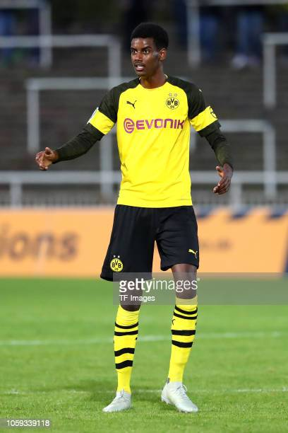 Alexander Isak of Borussia Dortmund II gestures during the Regionalliga West match between Borussia Dortmund II and 1 FC Koeln U23 on September 25...