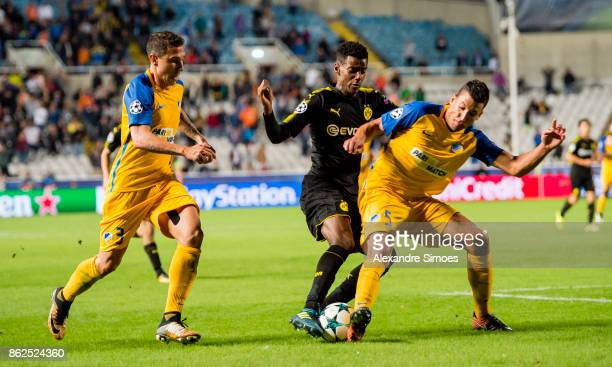 Alexander Isak of Borussia Dortmund in action during the UEFA Champions League group H match between APOEL Nikosia and Borussia Dortmund at GSP...