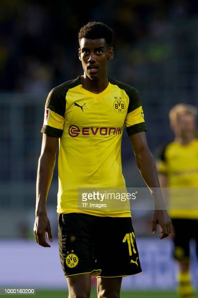Alexander Isak of Borussia Dortmund looks on during the friendly match between Austria Wien and Borussia Dortmund at Generali Arena on July 13 2018...