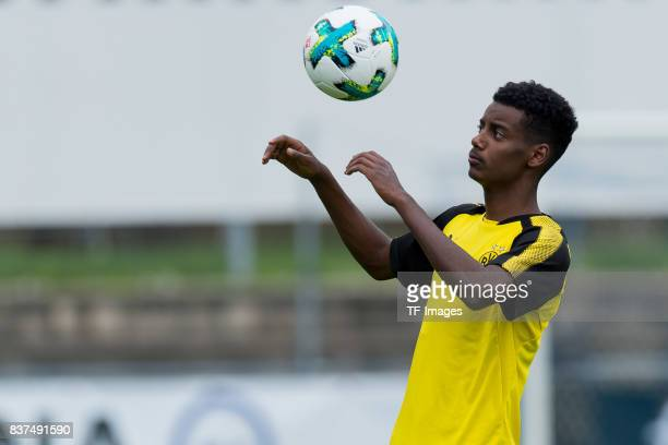 Alexander Isak of Dortmund controls the ball during a training session as part of the training camp on July 31 2017 in Bad Ragaz Switzerland