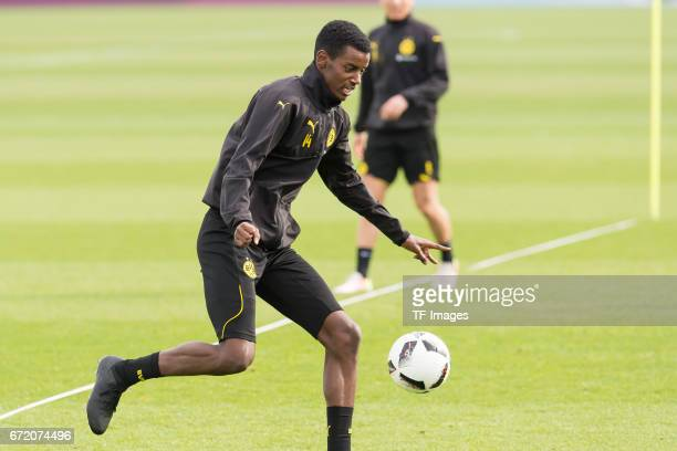 Alexander Isak of Dortmund controls the ball during a training session at the BVB Training center on March 15 2017 in Dortmund Germany