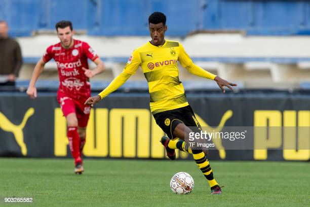 Alexander Isak of Dortmund controls the ball during the Friendly match between Borussia Dortmund and SV Zulte Waregem at Estadio Municipal de...