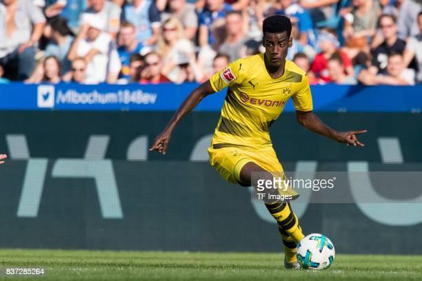 Alexander Isak of Dortmund controls the ball during the preseason friendly match between VfL Bochum and Borussia Dortmund at Vonovia Ruhrstadion on...
