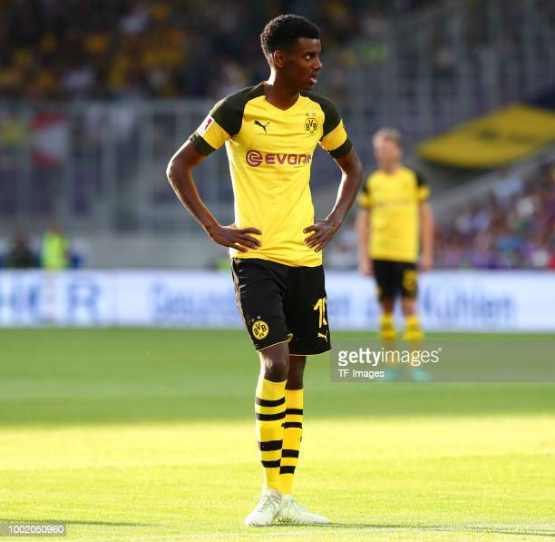 Alexander Isak of Dortmund during the friendly match between Austria Wien and Borussia Dortmund at Generali Arena on July 13 2018 in Vienna Austria