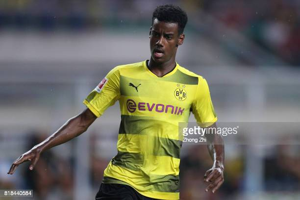 Alexander Isak of Dortmund in action during the 2017 International Champions Cup football match between AC Milan and Borussia Dortmund at University...