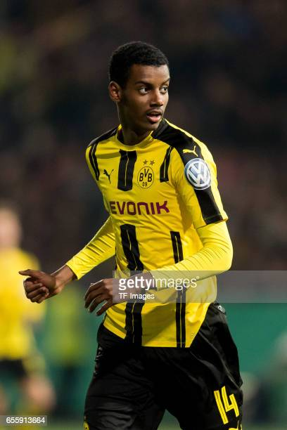 Alexander Isak of Dortmund looks on during the DFB Cup Quarter Final match between Sportfreunde Lotte and Borussia Dortmund at the Stadion an der...