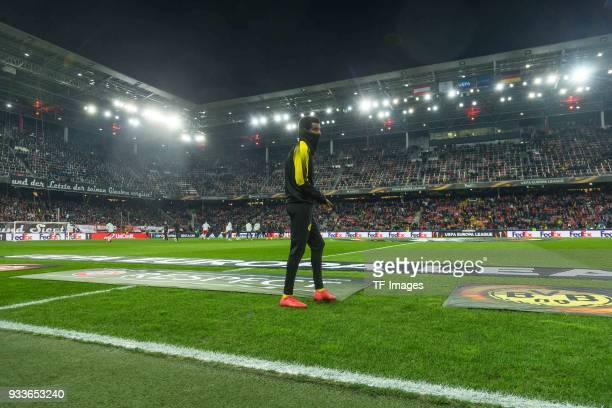 Alexander Isak of Dortmund looks on prior to UEFA Europa League Round of 16 second leg match between FC Red Bull Salzburg and Borussia Dortmund at...