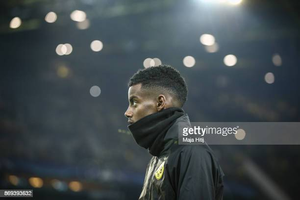 Alexander Isak of Dortmund prior the UEFA Champions League group H match between Borussia Dortmund and APOEL Nikosia at Signal Iduna Park on November...