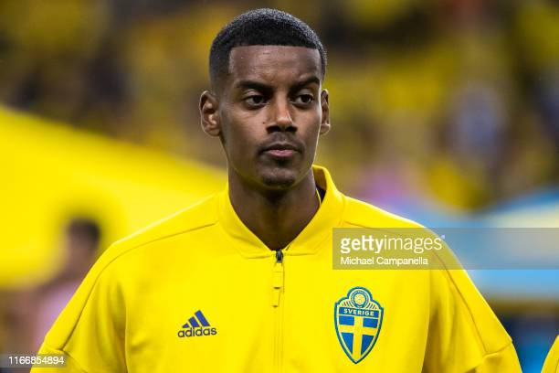 Alexander Isak of Sweden during a UEFA Euro 2020 Qualification match between Sweden and Norway at Friends Arena on September 8 2019 in Stockholm...