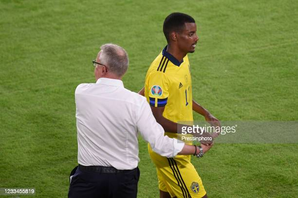 Alexander Isak of Sweden during the match between Spain and Sweden of Euro 2020, group E, matchday 1, played at La Cartuja Stadium on June 14, 2021...