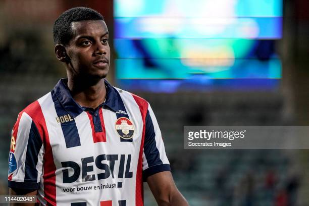 Alexander Isak of Willem II during the Dutch Eredivisie match between ADO Den Haag v Willem II at the Cars Jeans Stadium on May 15 2019 in Den Haag...