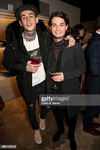 Alexander James and Jack Brett Anderson attends the launch of the Hardy Amies x VOLPE VIP collaboration at Hardy Amies Savile Row on November 29 2017...