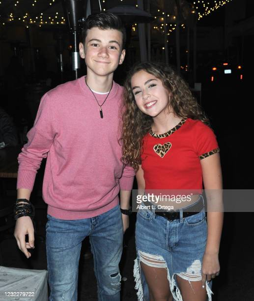 Alexander James Rodriguez and Lexy Kolker attend the Sweet 16 Birthday Party for actress Chalet Lizette Brannan at Saddle Ranch Chop House on April...