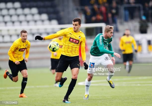 Alexander Jeremejeff of BK Hacken during the Svenska Cupen group stage match between BK Hacken and IK Brage at Bravida Arena on February 16 2019 in...