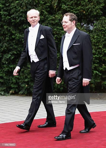 Alexander Johannsmann arrive to his wedding to Princess Nathalie zu SaynWittgensteinBerleburg at the evangelic Stadtkirche on June 18 2011 in Bad...