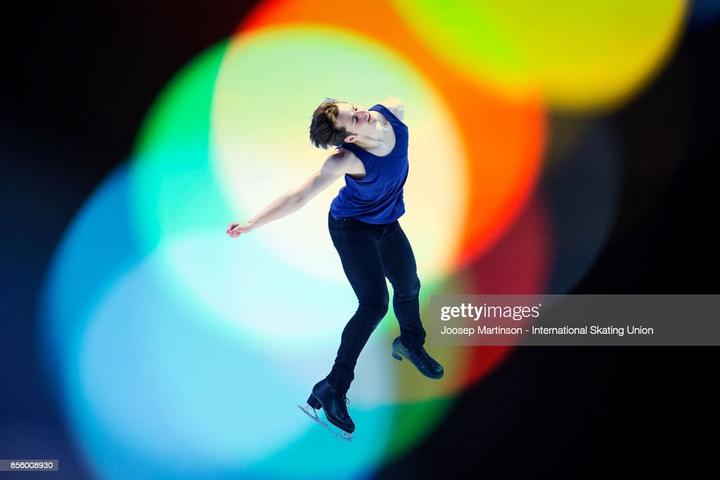 Alexander Johnson of the United States performs in the Gala Exhibition during the Nebelhorn Trophy 2017 at Eissportzentrum on September 30, 2017 in Oberstdorf, Germany.