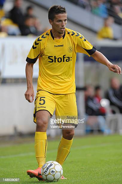 Alexander Juel Andersen of AC Horsens in action during the Superliga match between AC Horsens and FC Nordsjaelland at Casa Arena on July 16 2012 in...