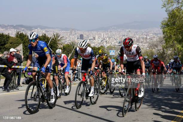 Alexander Kamp from Denmark of Trek - Segafredo during the 100th Volta Ciclista a Catalunya 2021, Stage 7 from Barcelona to Barcelona. On March 28,...