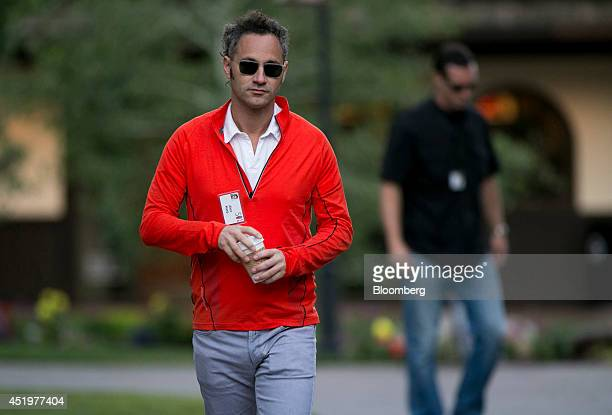 Alexander Karp chief executive officer and cofounder of Palantir Technologies Inc arrives to a morning session during the Allen Co Media and...