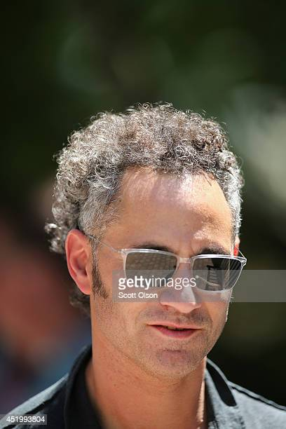 Alexander Karp chief executive officer and cofounder of Palantir Technologies Inc attends the Allen Company Sun Valley Conference on July 10 2014 in...