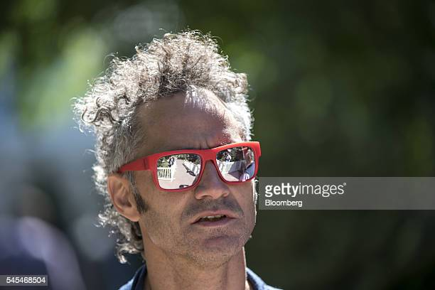 Alexander Karp chief executive officer and cofounder of Palantir Technologies Inc walks the grounds after the morning sessions during the Allen Co...
